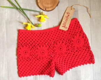 SHORTS, Beach SHORTS, sexy shorts, lace shorts, Crochet shorts, woman shorts, Summer clothing, beachwear, crochet fashion, cotton shorts