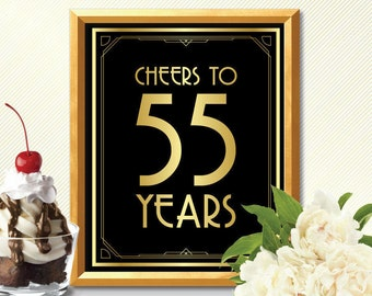 Cheers to 55 years happy 55th birthday cheers to 55 years sign 55th birhtday decoration 55th birthday card 55th birhtday cheers to 55 years