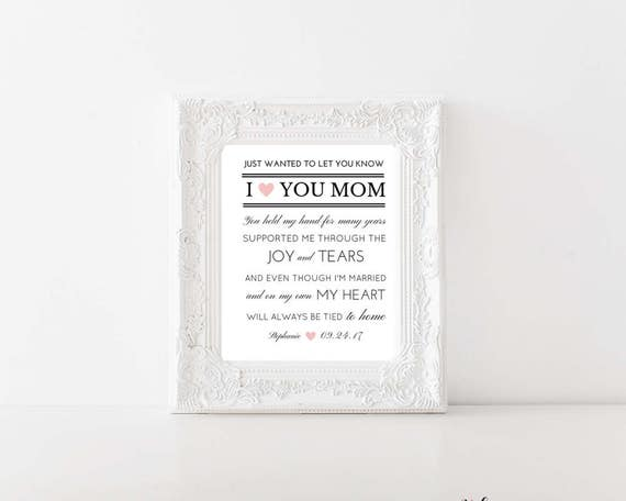 Mother Of The Bride Home Decor Mom Gift Is Perfect For