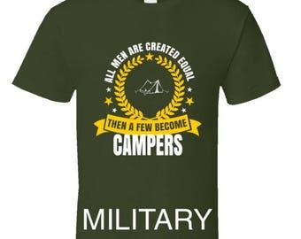 Funny camping t shirt,Camping Shirt, Camping Tshirt,Camping Gift,Camping Gear,Camping Life,bbq t shirt,campfire camping,A Few Become Campers