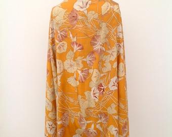 Rare 1920s shawl scarf Chinese raw silk vintage antique