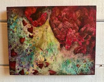 Vibrant Pangolin - Original Block Cut Painting, Linocut
