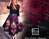 Stunning Silk STAG Skirt Beautiful 100 Pure Silk Twill Made To Order Boho Skirt Ladies Bespoke Unusual Luxury Fashion Dress Glamour Evening
