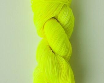 Neon hand dyed sock yarn, sock yarn, neon sock yarn, 75/25% merino/nylon, artisan yarn, indie dyer