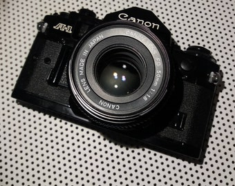 Canon A-1 SLR with Canon 50mm f1.8 Prime Lens