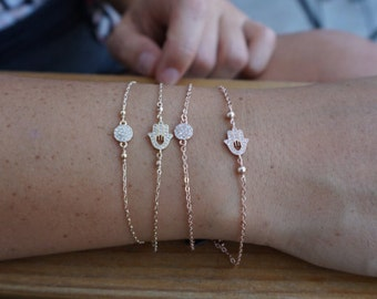 gold pavé bracelet, gold filled, rose gold filled, stacking bracelet