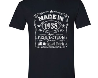 1938 birthday, 1938 shirt, 1938 T-Shirt, 1938, 1938 birthday shirt, Any Year Available