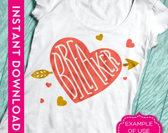 valentine svg, heart svg, heart breaker svg, valentines svg, heart svg file, valentine dxf, heart arrow svg, svg valentines day, arrow heart