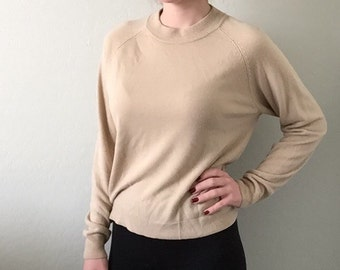 Vintage Mock Neck Sweater Small