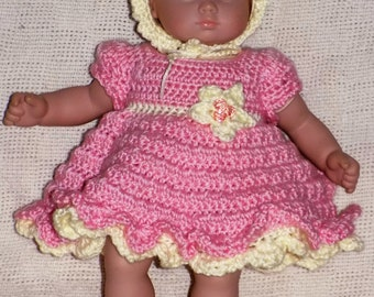Bitty Baby Clothes- Complete Dress Outfit Crochet Pattern-- PDF download