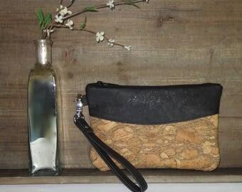 Cork Wristlet, Cork Clutch, Small Cork Bag, Nitabag