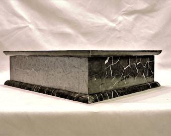 Stationery Box - Black and White Decoupage Box