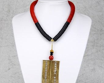 African-style Y necklace