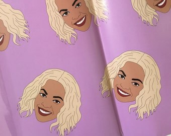 RAPPING PAPER, Beyonce Wrapping Paper (XMAS Wrapping Paper, Birthday Wrapping Paper)