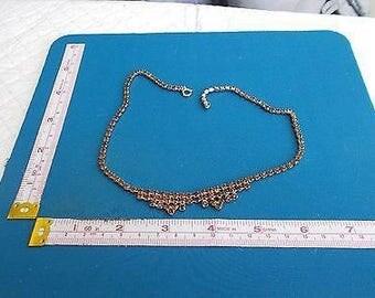 Vintage Red Rhinestone Necklace