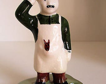 Vintage Rare Guinness Advertising 'Zookeeper' Ceramic Figure by Carlton Ware