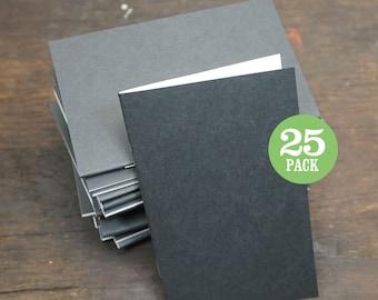 Bulk Notebook, Journal, Black, Blank Journal, Blank Page Journal, Sketchbook, Blank, 3.5x5.5 Inch, Plain Notebook, Bulk Journal. Set of 25.
