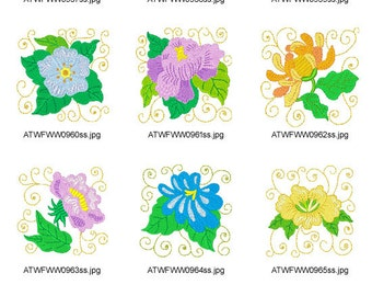 Frizzy-Flowers ( 10 Machine Embroidery Designs from ATW )