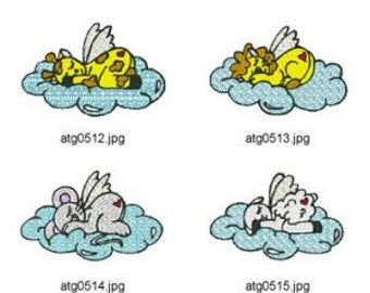 Animal Angels  ( 6 Machine Embroidery Designs from ATW ) XYZ17C