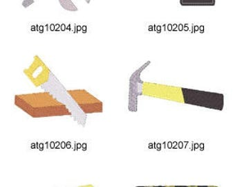 Construction-Supplies ( 6 Machine Embroidery Designs from ATW ) XYZ17D