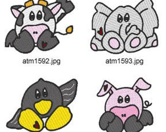 Chubbers ( 7 Machine Embroidery Designs from ATW ) XYZ17D