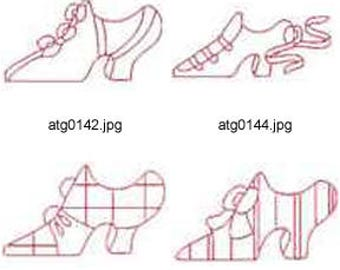 Victorian-Shoes-Bluework ( 12 Machine Embroidery Designs from ATW ) XYZ17E