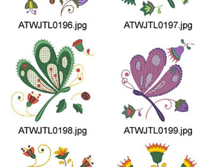 Jacobean-Firefly ( 17 Machine Embroidery Designs from ATW ). XYZ17D