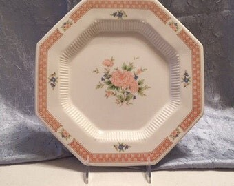 Vintage China Dinner Plates, Nikko Cameo Rose Replacement China, Octagon Dinner Plates, Cottage Chic