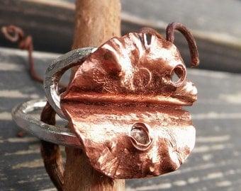 "Handmade silver ring ""Autumn"""