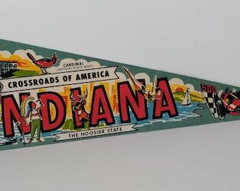 Indiana - Vintage Pennant