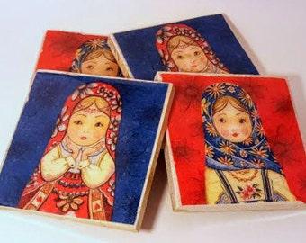 Russian Dolls on Limestone