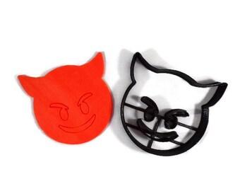 Devil Emoji Cookie Cutter - Imp Emoji Cookie Cutter - Devil Horns Emoji Cookie Cutter - Emoji Cookie Cutters
