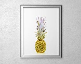 Fruit Print Pineapple Poster Art Pineapple Wall Art Kitchen Art Poster Tropical Print Fruit Poster Pineapple Print