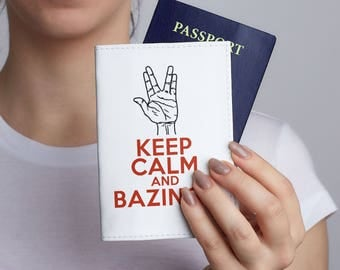 The Big Bang Theory Cover Leather Passport Holder Leather Travel Holder Passport Travel Pouch Passport Case Travel Wallet Spock Cover CL6103