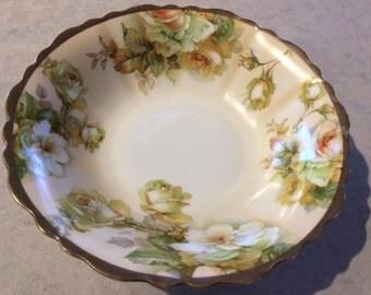 Royal Austria O.&E.G. Hand Painted Serving Bowl Vintage