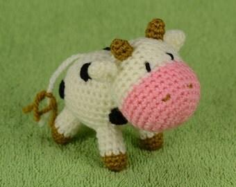 Crochet Cow, Cow toy, Amigurumi Cow, crochet cow toy, Cow Plush, Cow stuffed animals, Amigurumi animals, farm animal toy, barnyard animal.