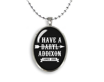 I have a Daryl Addixon Oval Pendant Daryl Dixon Necklace Walking Dead Fandom Jewelry Cosplay Fangirl Fanboy