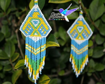 Aguila-Aretes earrings handcrafted-jewelry -