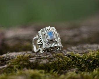 Silver Ring Tribal Gypsy Etnic Bohemian