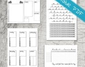 Monthly Bundle Planner Stickers  - Printable