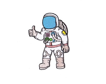 Astronaut Patch - Astronaut Embroidered Iron on Patch - Astronaut Iron on Applique