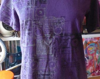 vtg t-shirt Boombox vgc size M