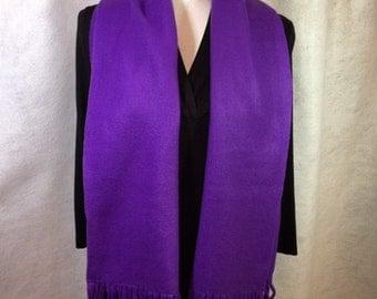 Purple Fleece Scarf