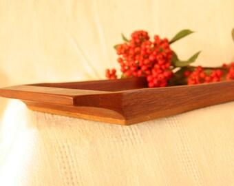 "Long teak tray 18.5"", scandinavian, 1960s"