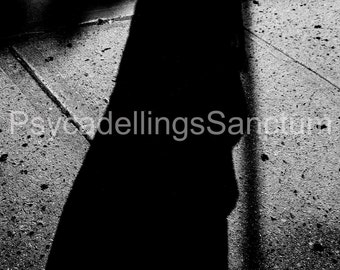 Devil at Your Doorstep - Black and White Photography -Gothic- Halloween