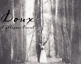 Doux Soft BW Film Lightroom Preset Professional Photo Editing for Portraits, Newborns, Weddings By LouMarksPhoto