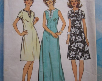 Simplicity 5475 1972 Vintage Dress and Maxi Dress Sewing Pattern 16.5 (39)