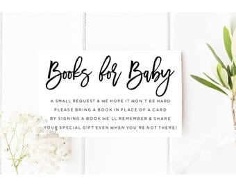 Stock the library Insert, Digital Books for Baby card, Books for baby gender neutral, Book request Insert, Baby shower Invitation add on