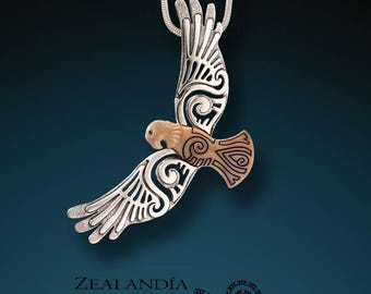 Circling the Sky - Hand Carved Tagua Nut Eagle Pendant