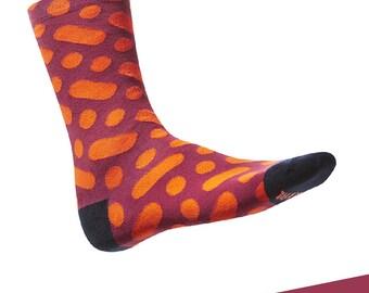 """Colorful, design cotton socks TAKAPARA. Model: """"Wilcza 13m4"""""""